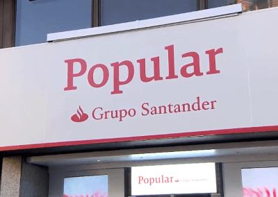 Letrero Grupo Santander
