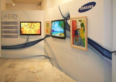 Lona publicitaria para evento de Samsung