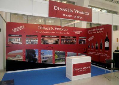Stand en feria para Dinastía Vivanco