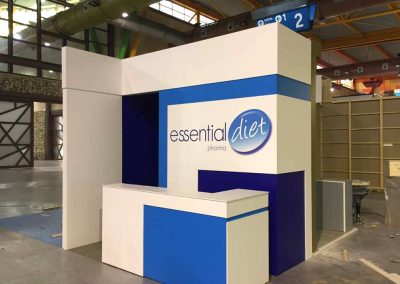 Stand promocional para Essential Diet