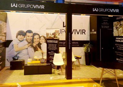 Montaje y decoración de stand publicitario para el grupo Vivir