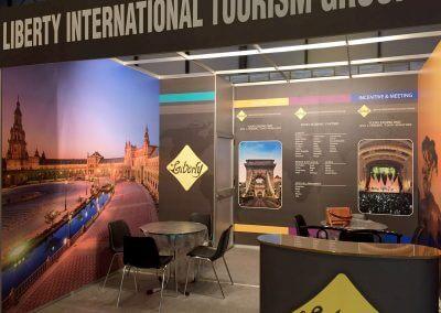Stand y lonas publicitarias para Liberty Tourism