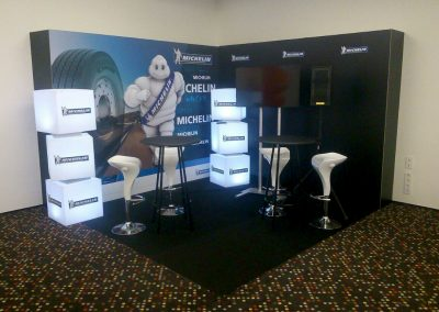 Stand promocional para Michelin