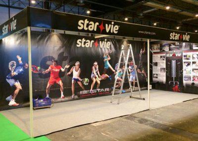 Stand publicitario y lonas para Starvie